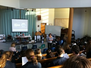 Bishop Allen Academy presentation on the Holodomor before grades 9 and 10 classes.