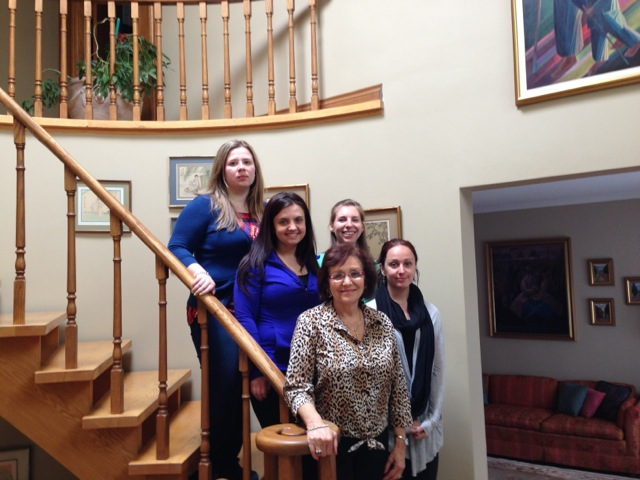 From left to right: Olivia Pyniansky, Tamara Mischena, Nadia Mokriy, Valentina Kuryliw, HREC Director of Eduction, Stephanie Bailey