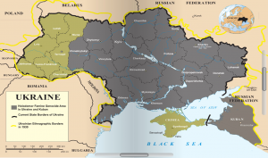 Map of Ukraine 1930