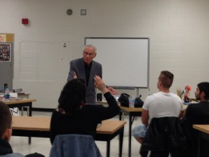 Survivor of the Holodomor – Mr. Latyshko. speaking to night school Genocide class. 2013