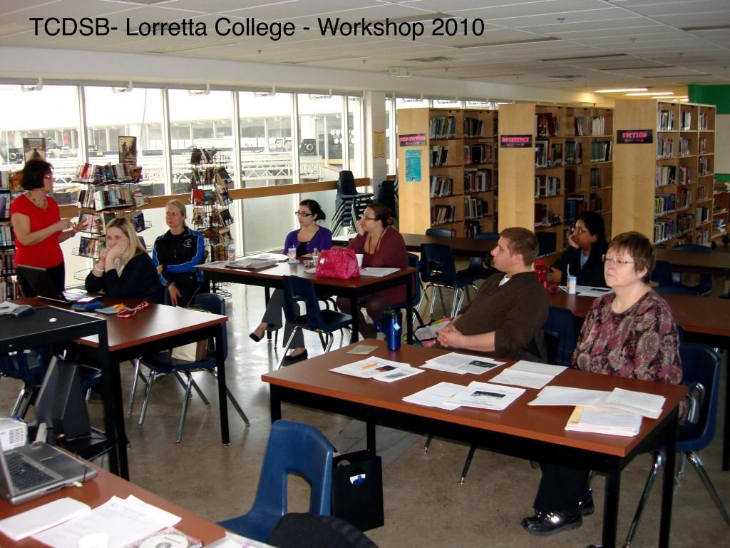 TCDSB – Toronto Catholic District School Board – Specifically Loretta College School - History Workshop