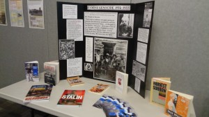 Exhibit of resources and quotations for the Hamilton Wentworth District School board. The presentation was given to Social Studies teachers on the significance of the Holodomor. Resources where discussed and handed out, as well as curricular fits for the Ontario curriculum.