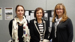 Hamilton Wentworth District School board workshop personnel: From left to Right Assistant - Stephanie Bailey Presentor -HREC Director of Education - Valentina Kuryliw Member of the Holodomor Education Team and part of UCC - Lydia Falcomer.