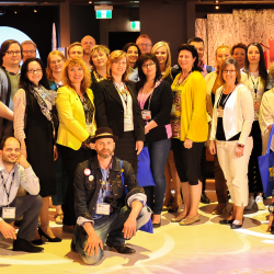 Some of the HEC–2017 participants during a tour of the Canadian Museum for Human Rights