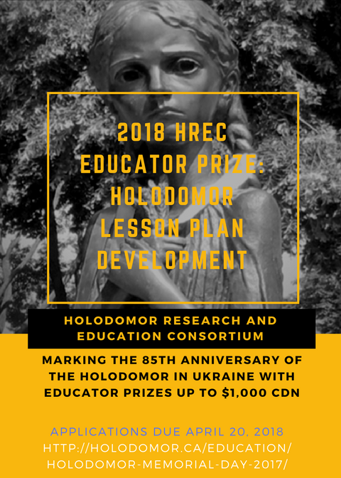 2018 HREC Educator Prize: Holodomor Lesson Plan Development