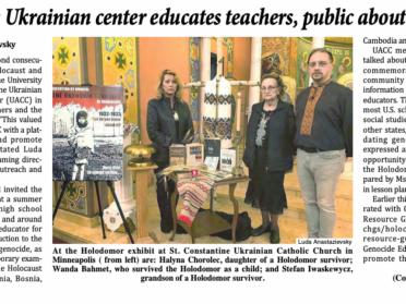 Minneapolis Ukrainian center educates teachers, public about the Holodomor