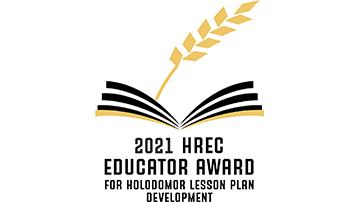 Educator Mary Ann Fajardo receives the 2021 HREC Educator Award for Holodomor Lesson Plan Development