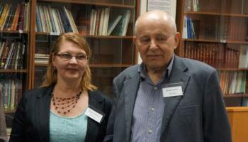 Key note speaker Prf. Roman Serbyn and Natalia Onyschuk