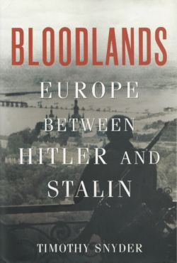"""Snyder, Timothy. Bloodlands: Europe Between Hitler and Stalin. Basic Books, New York, 2010. Americans call the Second World War """"The Good War"""". Bloodlands is a new kind of European history, presenting the mass murders committed by the Nazi and Stalinist regimes as two aspects of a single history, in the time and place where they occurred: between Germany and Russia, when Hitler and Stalin both held power. Assiduously researched, deeply humane, and utterly definitive, Bloodlands will be required reading for anyone seeking to understand the central tragedy of modern history."""